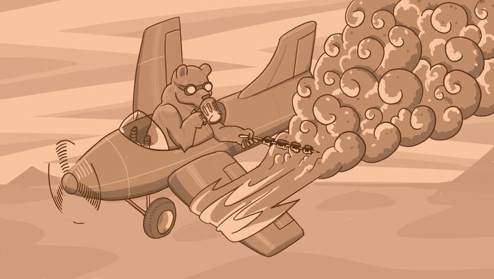 Все как обычно, медведь любит сидеть в горящем транспорте