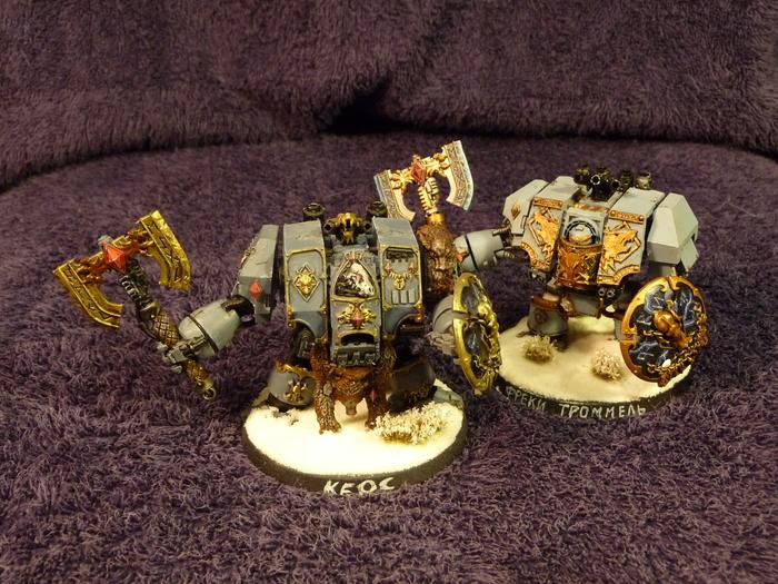 Космические Волки. Дредноуты. Warhammer 40k, Wh miniatures, Space wolves, Миниатюра, Дредноут, Длиннопост