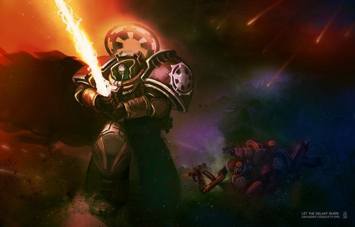 Примарх Вейдер Warhammer 40k, wh art, star wars, crossover, дарт вейдер, фан-арт