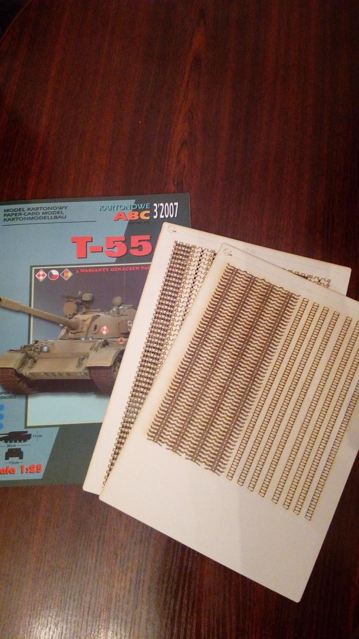 Как создаются бумажные модели. Т-55а 1:25 Танки, т-55а, World of tanks, Papercraft, Сборка, Длиннопост