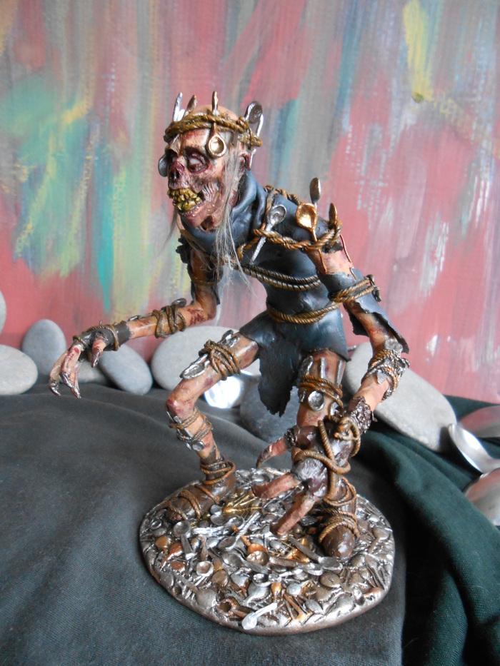 Пятнистый Вихт - персонаж из игры Ведьмак3: Кровь и вино. Ведьмак, Кровь и вино, Вихт, Spotted wight, Ручная работа, Фигурка, Полимерная глина, Super Sculpey, Длиннопост