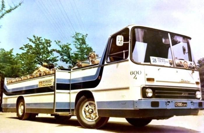 IKARUS кабриолет. Автобус, Кабриолет, СССР, Икарус, Сочи, Длиннопост