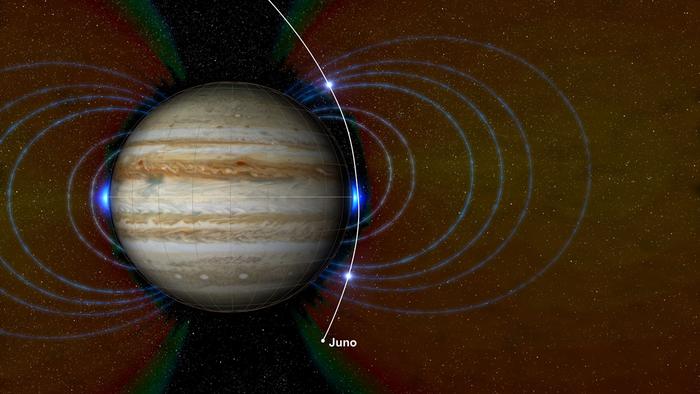 Juno заглянул вглубь Большого красного пятна Юпитера и обнаружил неизвестную зону радиации Космос, Juno, Юпитер, Видео, Гифка, Длиннопост