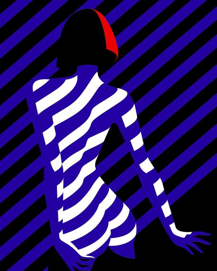 Малика Фавр по взаимодействию между негативным пространством и эротическим искусством Арт, Картинки, Малика Фавр, Длиннопост
