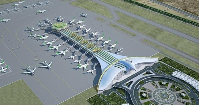 Аэропорт Ашхабада. Просто красиво. аэропорт, самолет, архитектура, сооружения, туркменистан