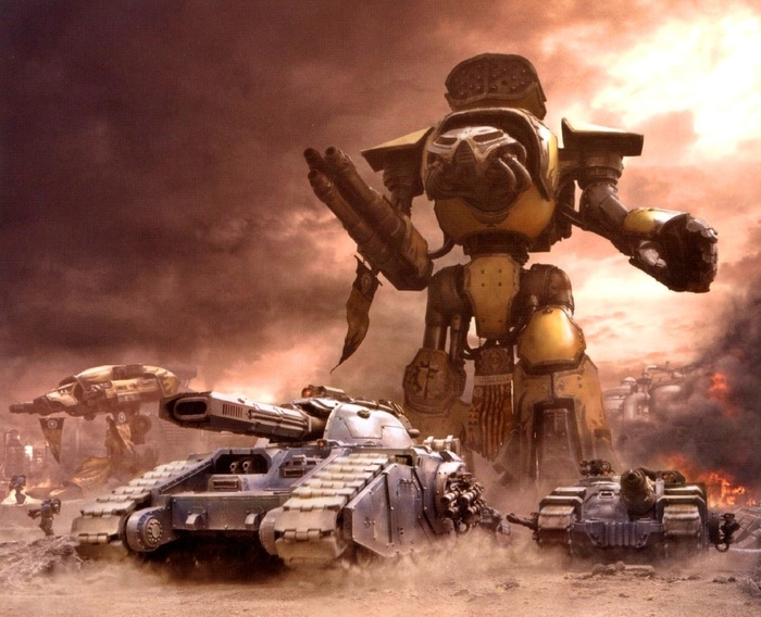 Империум и шагоходы-2 Warhammer 40k, Wh back, Дредноут, Nemesis Dreadknight, Титан, Длиннопост