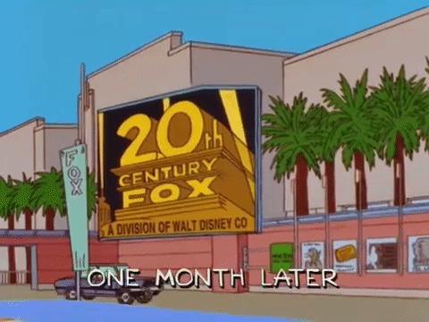 И опять Симпсоны предсказали это! Симпсоны, Дисней, Фокс, Предсказание, Reddit, Гифка