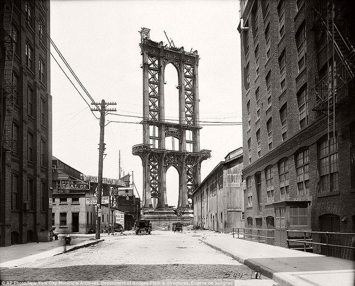 Манхэттенский мост Манхэттенский мост, Длиннопост, Манхэттен, Видео, Нью-Йорк, New York, Manhattan bridge, Manhattan