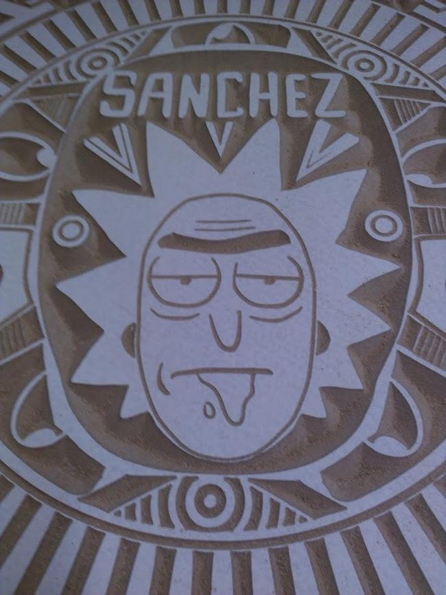 """Как я делал  """"Rick and Morty aztek calendar""""! Рик и морти, CNC, Wabba lubba dub dub, Календарь, Длиннопост"""