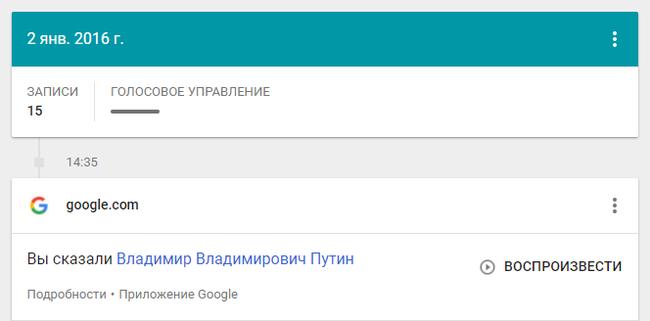 Гугл не так и прост Путин, Выборы, Google, Прослушка