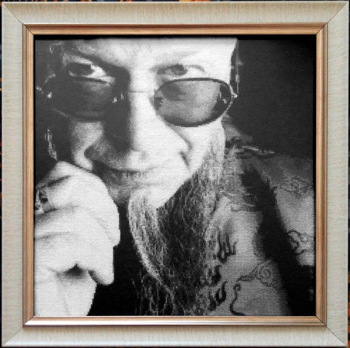 Портретные вышивки Вышивка крестом, Портрет, Джим моррисон, Борис Гребенщиков