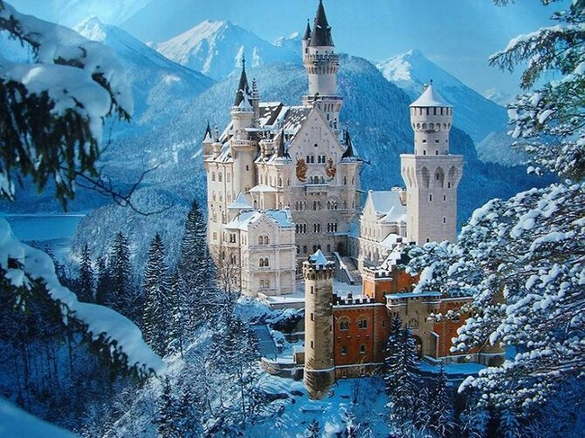 Самый красивый Замок в мире. Мир, Замок, Красота, Супер, Красивое, Пикабу, Лето, Зима