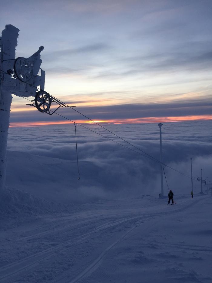 Дорога над облаками Горы, Зимняя сказка