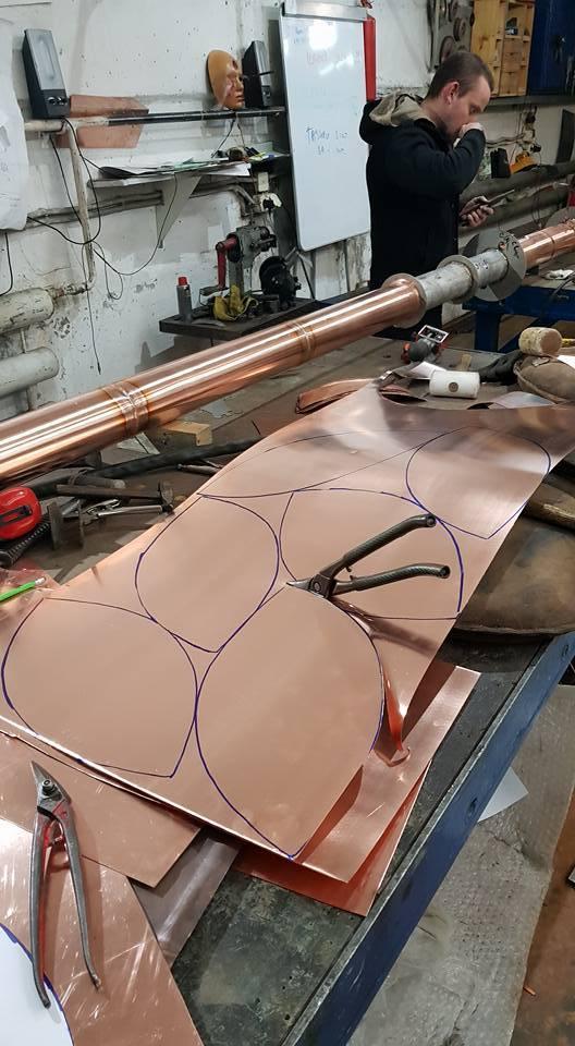 Сферы из меди. Процесс изготовления ручная работа, handmade, медь, рукоделие, дизайн, творчество, моё, длиннопост