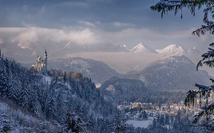 Зима в Альпах.