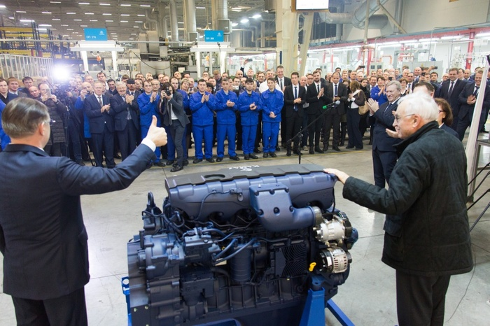 """""""КАМАЗ"""" запускает конвейер по производству двигателей Р6 Камаз, Liebherr, Двигатель, Камаз-54901, Длиннопост"""