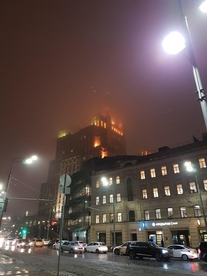 Туманная Москва Москва, Баррикадная, Здание, Туман, Вау, Фотография