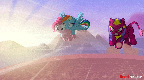Она всё-таки догадалась, кто управлял лазером My Little Pony, Rainbow Dash, Pinkie Pie, Sphinx, Гифка