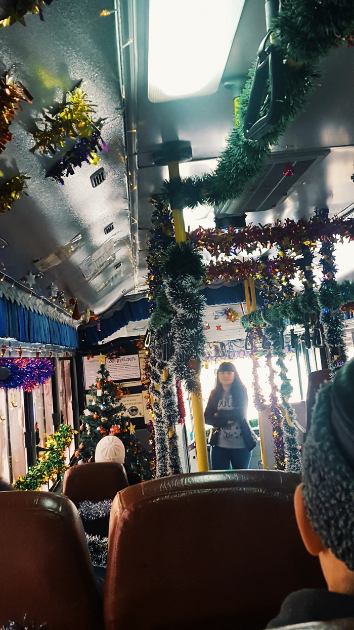 В Новый год - на всех парах 80 lvl, Новый Год, Автобус, Длиннопост