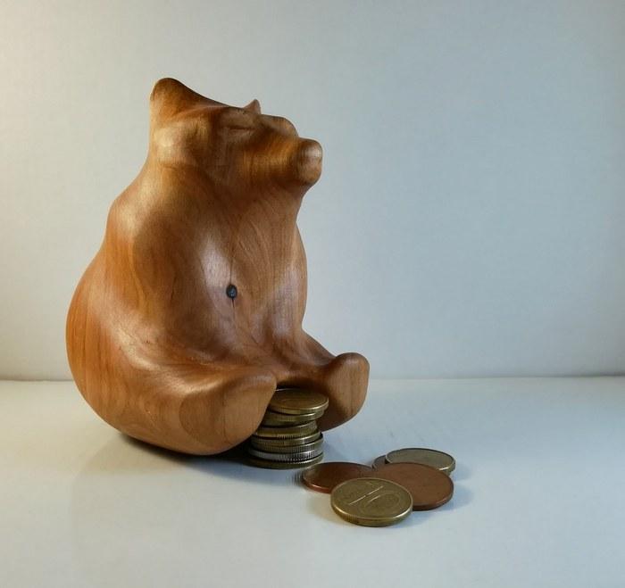 Мультимедвед Медведь, Резьба по дереву, Статуэтка, Ольха, Ручная работа, Своими руками, Длиннопост