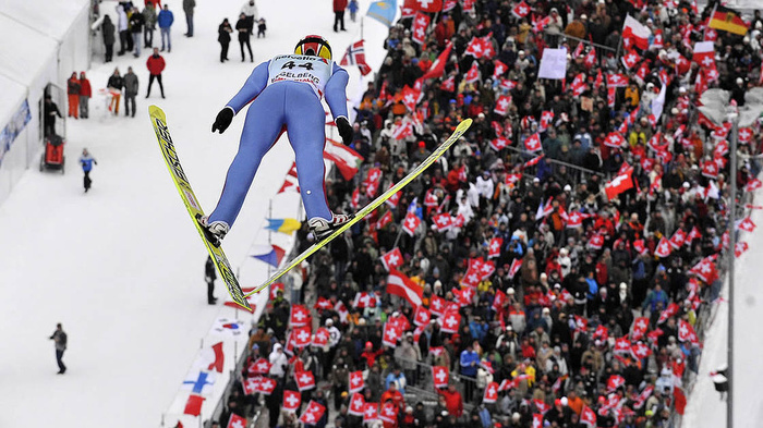 Ski jumping Ski jumping, Германия, Спорт, Пейзаж, Длиннопост, Видео