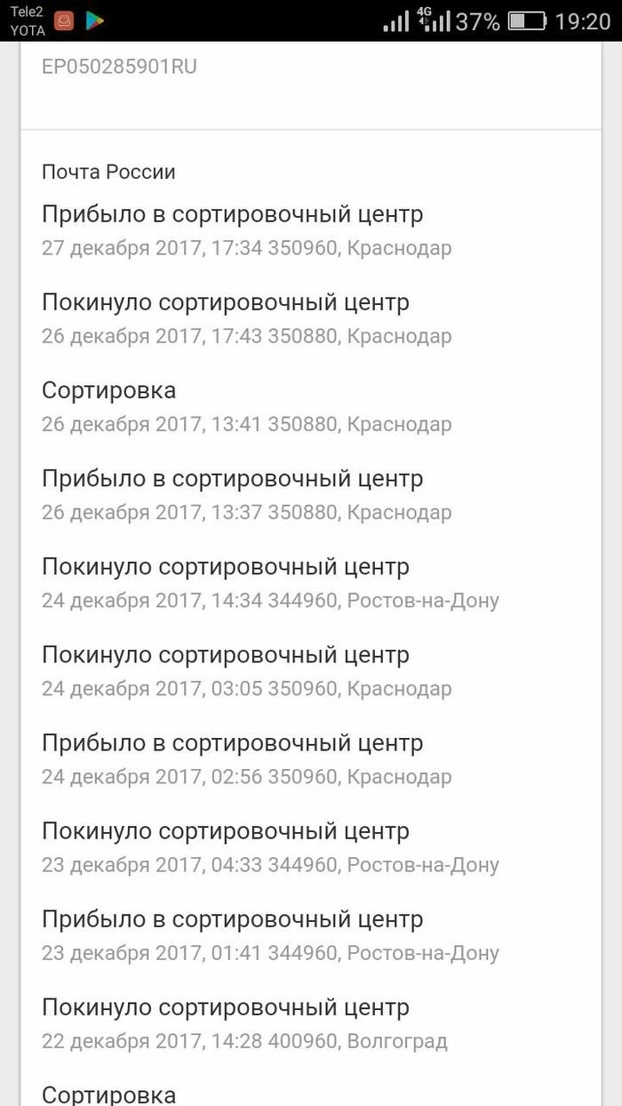 Почта России. Маразм крепчал. Супер быстрое отправление ЕМС... Почта России, Емс