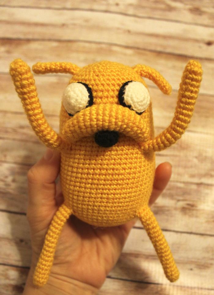 """Джейк из """"Времени Приключений"""" Adventure time, Jake the dog, Финн и джейк, Вязание крючком, Вязание, Длиннопост"""