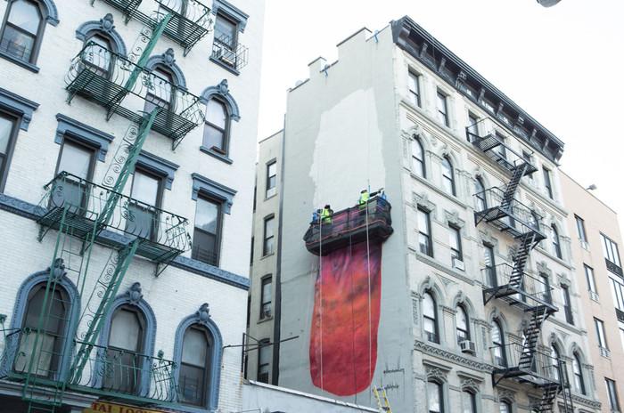 В Нью-Йорке на доме нарисовали гигантский пенис (но уже закрасили...) Нью-Йорк, Пенис, Арт-Объект, Настенная живопись, Длиннопост