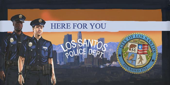 полиция США Полицейский Департамент Лос Сантоса 1 gta 5 Лос Сантос