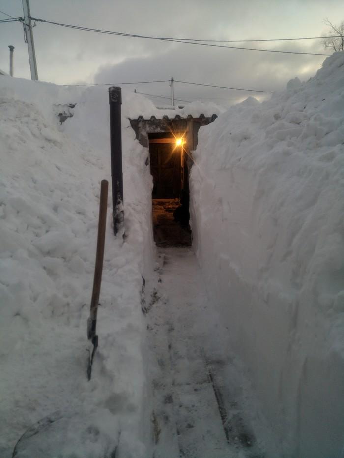 В преддверии Нового года Снег, Новый Год, циклон, Николаевск-на-Амуре