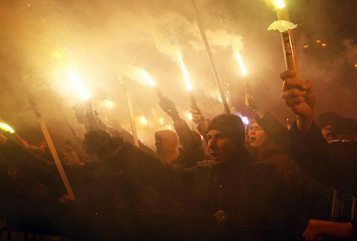 Марш Бандеры. Украина, Политика, Киев, Длиннопост