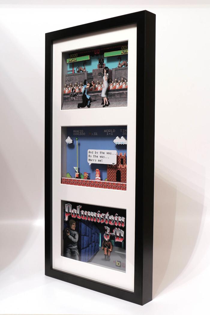 Диорама для молодоженов Диорама, Моё, Арт, Своими руками, Марио, Mortal kombat, Wolfenstein, Подарок, Длиннопост