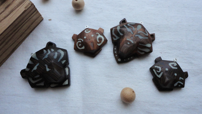 Семейство медведей Медведь, Люминофор, Светящиеся амулеты, Амулеты из дерева, Рукоделие без процесса, Длиннопост
