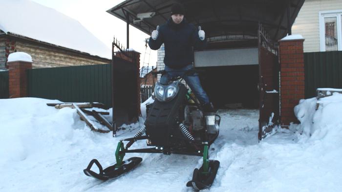 Строим самодельный снегоход   Первый выезд! Самодельный снегоход, Вепрь, Ульяновск, Снегоход, Первый выезд, Видео, Длиннопост