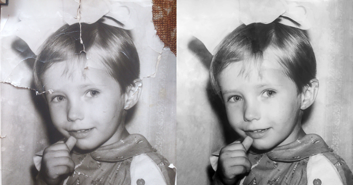 Восстановление старых напечатанных фотографий