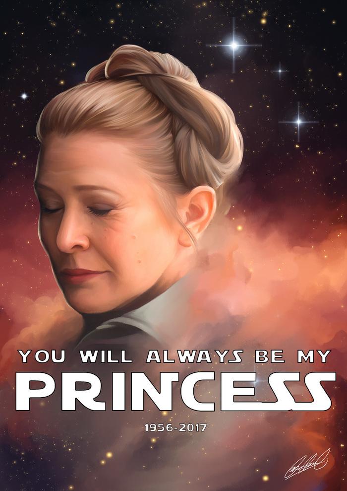 В память о принцессе Лее Star Wars, Кружка, Принцесса лея, Кэрри Фишер, Длиннопост