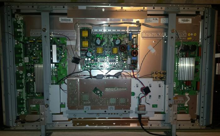 Нужна помощь ремонтников, сломался плазменый телевизор Sampo Телевизор, Поломка, Помощь, Ремонт, Потроха, Длиннопост