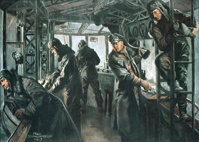 Дирижабельный гоп-стоп Норвегия, Германия, Барк, Цеппелин, Инцидент, 1917, Длиннопост