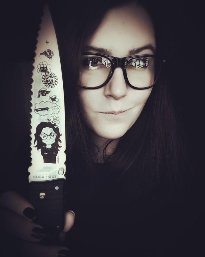 Портрет на ноже