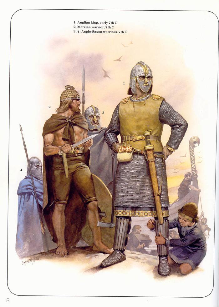 Иллюстрации народов Британии (Англосаксонский период). иллюстрации, арт, воин, Англия, англосаксы, война, Англосаксонский период, Великобритания, длиннопост