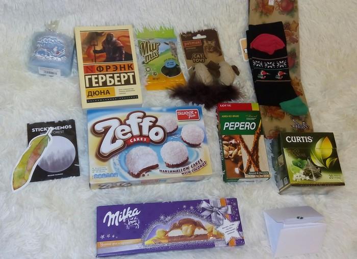 Тайный Санта: подарок из г.Люберцы Обмен подарками, Тайный Санта, Люберцы, Чебоксары, Кот, Мейнстрим