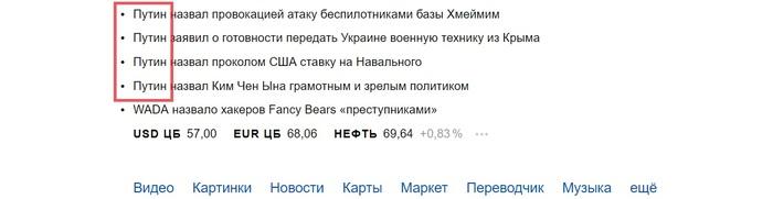 Путин, путин-путин, путин-путин-путин... путин Путин, Яндекс, Выборы