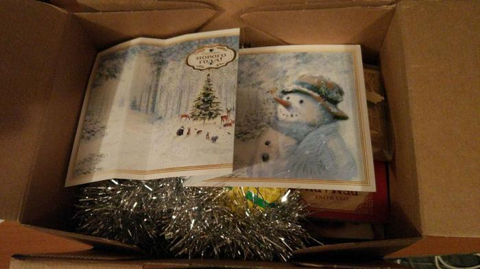 Вот и пришёл подарок от моего деда мороза) Обмен подарками, Дед Мороз, Роллтон, Еда, Подарок, Ура, Длиннопост