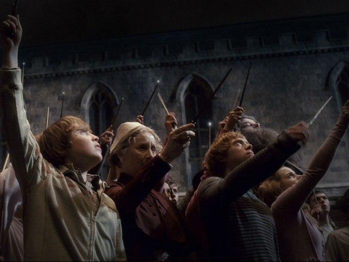 Палочки вверх, Хогвартс. Алан Рикман, Смерть, Гарри Поттер, Северус Снейп, Память