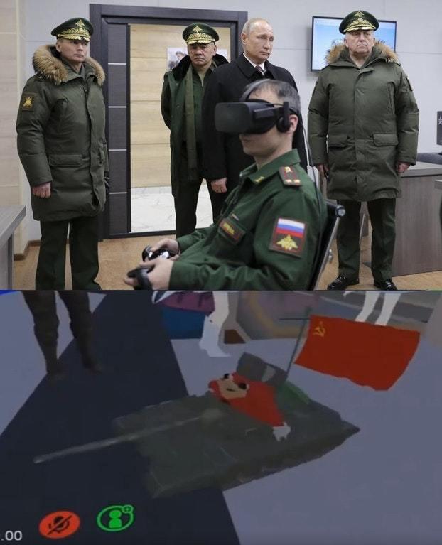 Внедрение VR технологии в армию России VRChat, Сделано в СССР, Путин, Coub