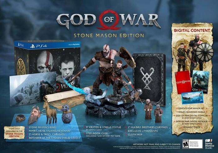 Объявлен состав коллекционного издания новой God ofWar. Там все очень богато! God of war, Playstation 4, DarkHorse, Коллекционное издание, Кратос