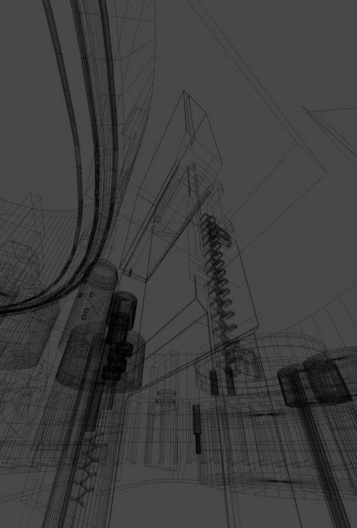 Damned cybercity Моё, Киберпанк, Blender, 3D coat, Photoshop, Арт, Artstation, Гифка, Длиннопост