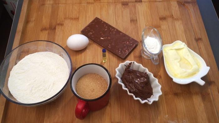 """Печенье с """"Nutella"""" и шоколадной крошкой. Печенье, Рецепт, Нутелла, Длиннопост"""