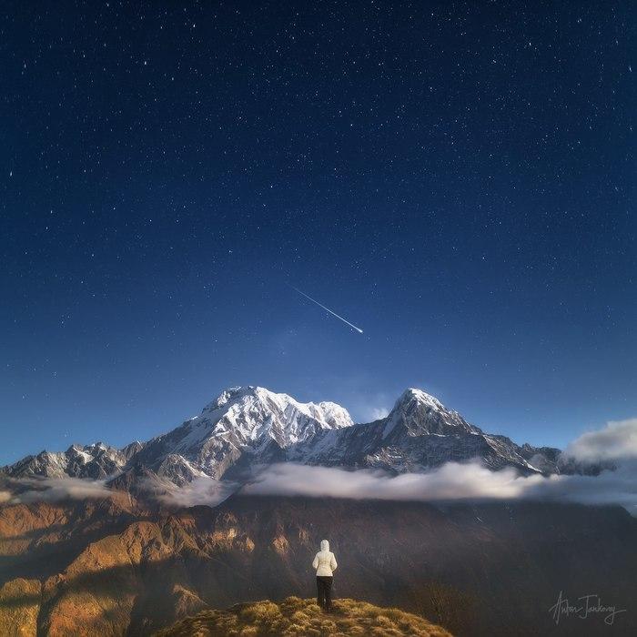 Никогда не переставай мечтать Фотография, Пейзаж, Горы, Метеор, Гималаи, Непал, Трек, Антон Янковой