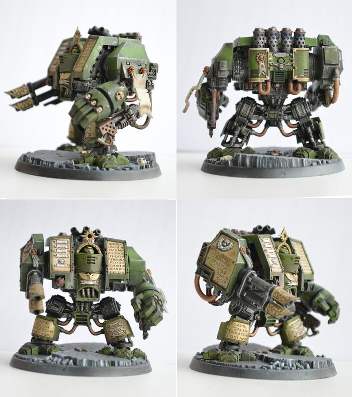 Dark Angels Space Marine Dreadnought Моделизм, Вархаммер40000, Warhammer 40k, Масштабная модель, Своими руками